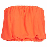 Staple Crinkle Bandeau Top - Coral