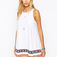 ASOS Swing Dress with Embroidered Tape Detail
