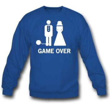 Wedding. Game Over Ball and Chain SWEATSHIRT CREWNECKS