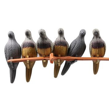 1pc hunting decoy 3D pigeon EVA foam hollow shooting hunting archery for outdoor birds fake painted