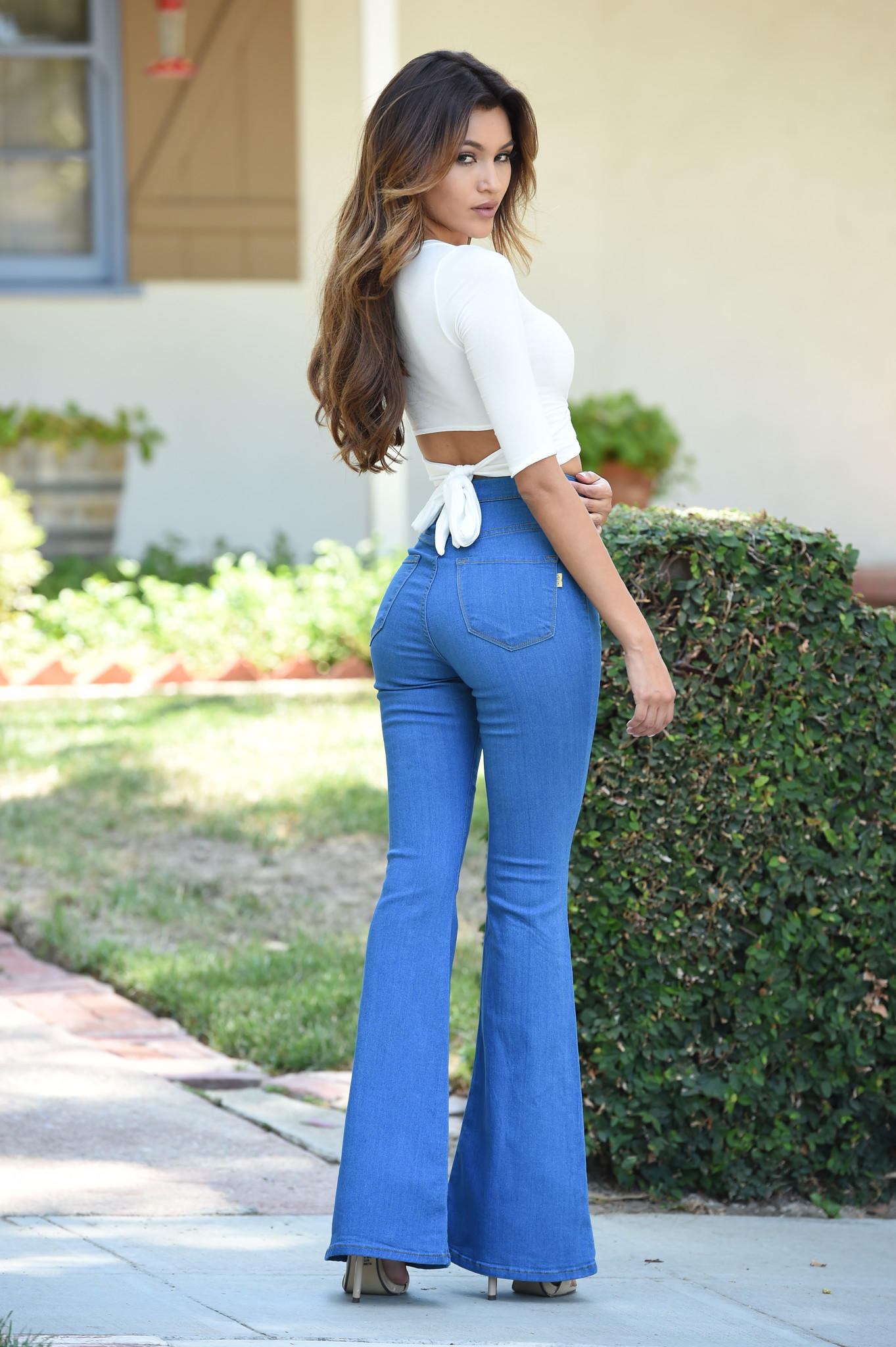 Bell Bottom Blues Jeans Vintage Blue From Fashion Nova