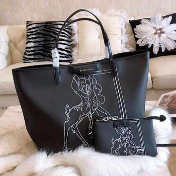 GIVENCHY Classic Trending Women Stylish Shopping Bag Leather Handbag Tote Shoulder Bag Purse Two Piece