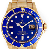 Rolex Yellow Gold Submariner Wristwatch Ref 16618