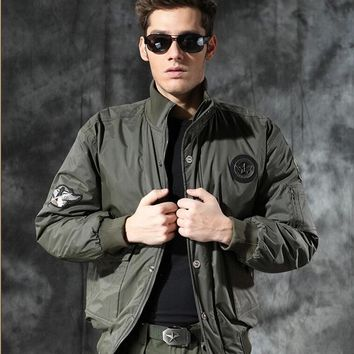 Limited Mens Jacket Military Outdoor Jackets Air Force Padded Winter Men Thick Flight Jacket Coat Size M-3XL