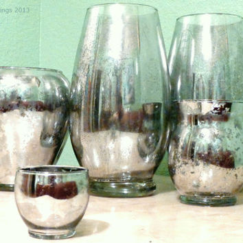 Bulk Vases Antique Silvered Glass Finish From Theartoffinerthing