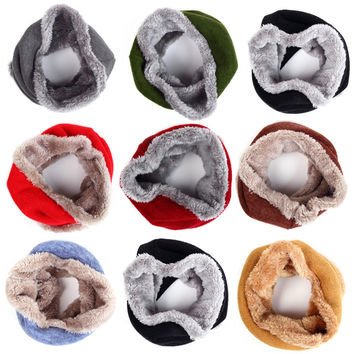Warm 2016 New Velvet Knitted Winter Baby Scarf Kids Children Scarf Scarves For Kids&Adult Neckerchief good quality