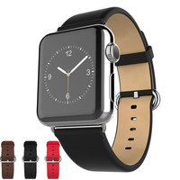 Watchband Straps for Apple Watch Classic Soft Genuine Leather Band with Stainless Buckle = 1956360900