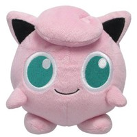 Sanei Pokemon All Star Series Jigglypuff Stuffed Plush, 5""