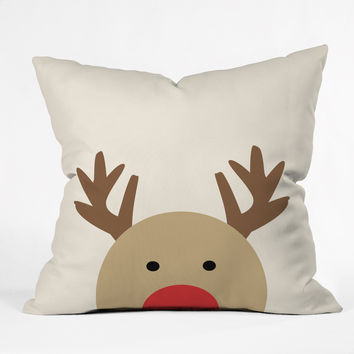 Allyson Johnson Reindeer Throw Pillow