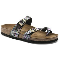Hot Sale Mayari Birkenstock Summer Fashion Leather Sandals For Women Men color Shiny Snake Black Multicolor size 35-42