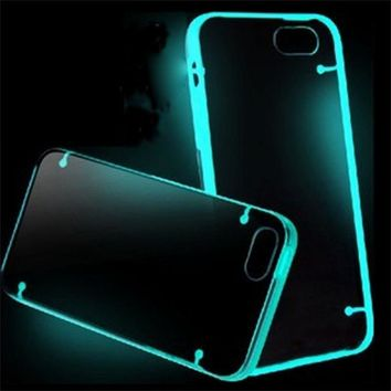 "3C Charger Store FGHGF Hot selling Glow TPU Rubber Gel Ultra Thin Clear Case for iPhone 6 Plus 5.5"" YYH* free shipping nice"
