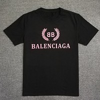 Trendsetter Balenciaga Women Man  Fashion Cotton  Short Sleeve Shirt Top Tee