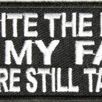 """Embroidered Iron On Patch - Despite the Look on my Face 4"""" Patch"""