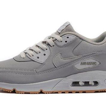 ICIKBTW Cheapest Nike Air Max 90 Winter Premium Medium Grey Neutral Grey Men's Running Shoes Trainers