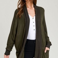 Follow Along Cardigan - Olive