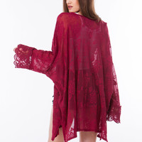 Go With The Flow Floral Lace Kimono GoJane.com