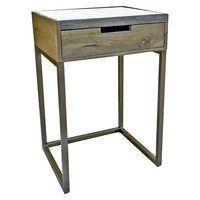 Marble & Gold One Drawer Accent Table - Threshold™ : Target