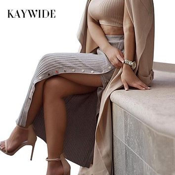 KAYWIDE 2017 Women Spring Skirt Series Fashion Sexy Summer New Style Slim Fit Maxi Long Skirts For Women B16106