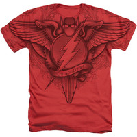 The Flash Winged Logo Sublimated Mens Heather T-Shirt