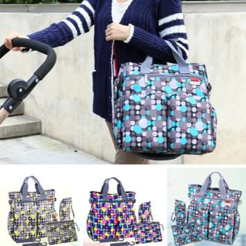 Polyester Dot Diaper Bags