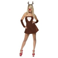 Red Hot Reindeer Costume - Small - Dress Size 6-8