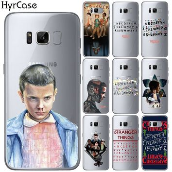 HryCase Ultra Thin Soft TPU Gel Silicon TV Stranger Things Pattern Case For Samsung Galaxy Note 2 3 4 5 8 Phone Cover