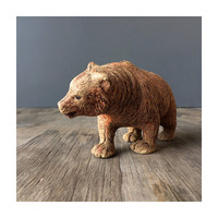 1940s Wood Composite Bear -