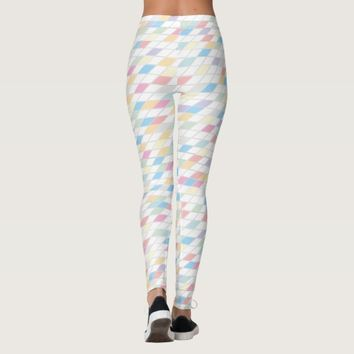 Colorful Abstract Pastels Leggings