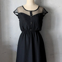 PETIT DEJEUNER in Black - Vintage inspired chiffon dress // little black dress // holiday // day // party // bridesmaid