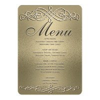 Dinner Menu | Gold Shimmer Elegance Card