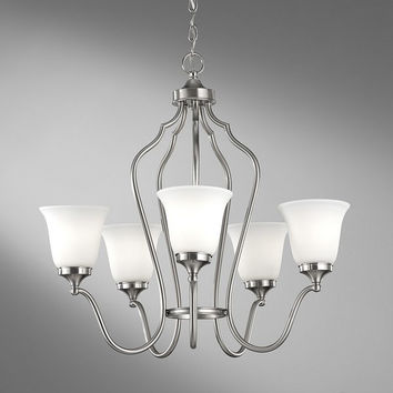 Murray Feiss Beckett 5 Light Steel Chandelier - F2650/5BS