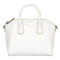 Givenchy Women's Antigona Sugar Goatskin Leather Satchel Bag, White