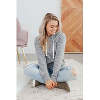 Easy Going Hoodie - Marled Charcoal(S-3X)
