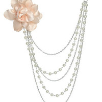 Pearl Chiffon Swag Necklace | Shop Accessories at Wet Seal