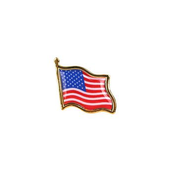5Pcs Hot Metal American Flag Pin Backpack Badges Creative Brooch Tie Badge Pin Medal High Quality