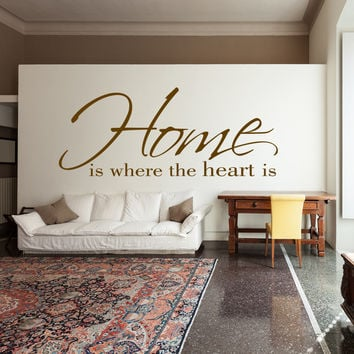 Home is where our heart is family wall decal quote