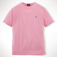 SOLID COTTON CREWNECK TEE