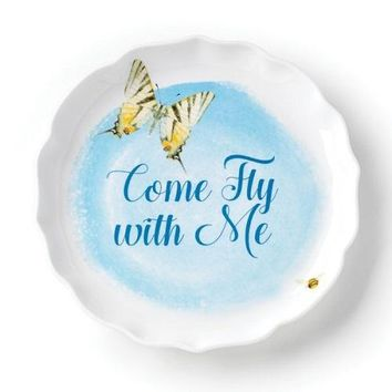 Butterfly Meadow Come Fly With Me Dish