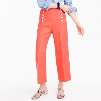 Sailor pant in heavy linen : Women pants | J.Crew