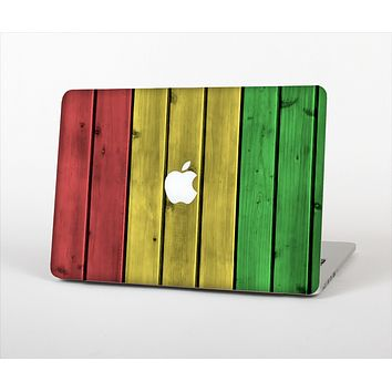 The Red, Yellow and Green Wood Planks Skin Set for the Apple MacBook Air 13""