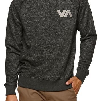 RVCA Chev Patch Crew Fleece - Mens Hoodie - Black