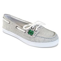 Campus Cruzerz Notre Dame Fighting Irish Kauai Boat Shoes - Women (Grey)