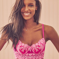 Floral Lace Long Line Demi Bra - Dream Angels - Victoria's Secret