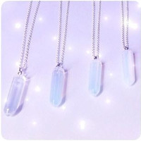 Opalite Crystal Point Neckjewel Necklace