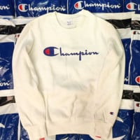 Champion fashion hot thickness sweater shirt White