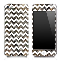 Real Camo under White Chevron Pattern Skin for the iPhone 3, 4/4s or 5