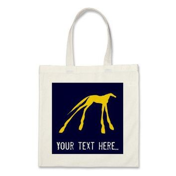 Neon Horse Blue And Yellow Tote Tote Bag from Zazzle.com