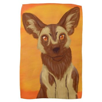 African Wild Dog Towel