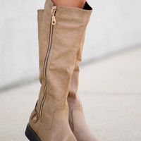 The Denny Boots, Taupe