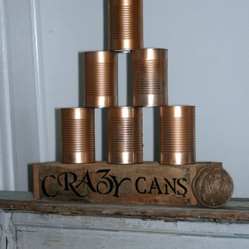 Crazy Cans Game For Rustic Country Wedding Carnival Event Game Vintage Wedding Game Tailgate Game Party Game Outdoor Game Hand Crafted